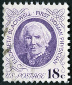 USA - 1974: shows portrait of Dr. Elizabeth Blackwell (1821-1910) — Foto de Stock
