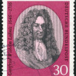 GERMANY - 1966: shows Gottfried Wilhelm Leibniz (1646-1716), philosopher and mathematician — Stock Photo