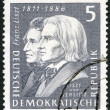 GERMANY - 1961: shows Franz Liszt (1811-1886) and Hector Berlioz (1803-1869) — Stok fotoğraf #23278576