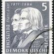 GERMANY - 1961: shows Franz Liszt (1811-1886) and Hector Berlioz (1803-1869) — Stock fotografie