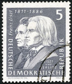 GERMANY - 1961: shows Franz Liszt (1811-1886) and Hector Berlioz (1803-1869) — Stock Photo