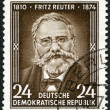 GERMANY - 1954: shows Fritz Reuter (1810-1874), writer, 80th anniversary of the death — 图库照片