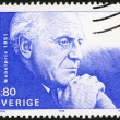 Stock Photo: SWEDEN - 1990: shows Par Lagerkvist, Nobel Laureate in Literature, 1951
