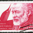 Stock Photo: SWEDEN - 1990: shows Ernest Hemingway, Nobel Laureate in Literature, 1954