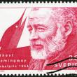 SWEDEN - 1990: shows Ernest Hemingway, Nobel Laureate in Literature, 1954 — Stock Photo
