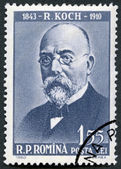 ROMANIA - 1960: shows Robert Koch (1843-1910) — Stock Photo