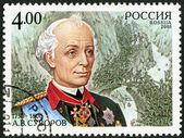 RUSSIA - 2005: shows portrait of A.V.Suvorov (1730-1800), commander, the 275th birth anniversary — Stock Photo