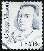 USA - 1981: shows portrait of George Mason (1725-1792) — Stock Photo