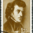 ROMANIA - 1960: shows Frederic Chopin (1810-1849) - Foto Stock