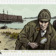 ALDERNEY - 2009: shows Sherlock Holmes — Stock Photo