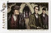 ALDERNEY - 2009: shows Sherlock Holmes — Stock Photo