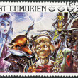 COMORES - 1976: shows Pinocchio, series Fairy Tales — Stock Photo