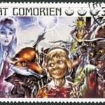 COMORES - 1976: shows Pinocchio, series Fairy Tales — Stock Photo #24110487