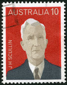 AUSTRALIA - 1975: shows James Henry Scullin (1876-1953), series Australian Prime Ministers — Stock Photo