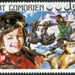 COMORES - 1976: shows Peter and the Wolf, series Fairy Tales — Stock Photo