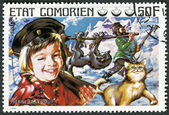 COMORES - 1976: shows Peter and the Wolf, series Fairy Tales — 图库照片