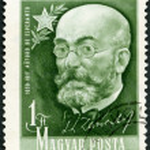 ������, ������: HUNGARY 1957: shows Ludwig Lazarus Zamenhof 1859 1917 inventor of Esperanto
