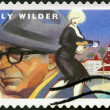 USA - 2012: shows portrait of Billy Wilder (1906-2002), scene from Some Like It Hot — Stock Photo