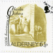 ALDERNEY - 2012: shows illustrations from Oliver Twist by George Cruikshank (1792-1878), 200th anniversary of Charles Dickens(1812-1870) — Stock Photo