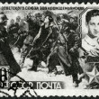 USSR - 1942: shows Nazi Soldiers Leading Zoya Kosmodemjanskaja (1923-1941) to her Death — Stock Photo