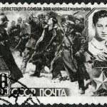 USSR - 1942: shows Nazi Soldiers Leading Zoya Kosmodemjanskaja (1923-1941) to her Death — Stock Photo #25434217