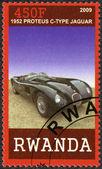 RWANDA - 2009: shows 1952 Jaguar C-Type by Proteus — Stock Photo