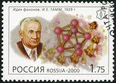 RUSSIA - 2000: shows I.Ye.Tamm (1895-1971), series Russia, XX century, Science — Stock Photo