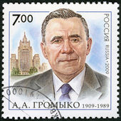 RUSSIA - 2009: shows The 100th anniversary of birth A.A.Gromyko (1909-1989), the statesman, the diplomat — Stock Photo