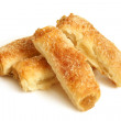 Puff pastry with jam — Stock Photo