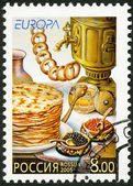 RUSSIA - 2005: dedicated gastronomy europa stamp issue program — Stock Photo
