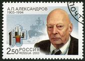 Rusko - 2003: vyhrazené sté výročí narození a.p.alexandrov (1903-1994), vědec — Stock fotografie