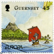 Постер, плакат: GUERNSEY 2010: shows illustration the adventures of Penny the Postie by Keith Robinson