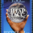 RUSSIA - 2004: dedicated the centenary of ITAR - TASS — Stock Photo