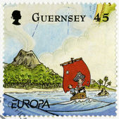GUERNSEY - 2010: shows illustration the adventures of Penny the Postie,by Keith Robinson — Stock Photo