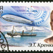 RUSSIA - 2003: dedicated the 100th birth anniversary of E.T.Krenkel, a polar explorer — Stock Photo