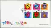 GUERNSEY - 2008: shows illustration Mr Men & Little Miss — Stock Photo