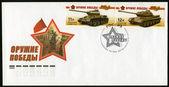 Ryssland - 2010: visar är-2 tunga tank, serie vapen av segern, tankar, den 65: e årsdagen av seger i det stora fosterländska kriget av 1941-1945 — Stockfoto