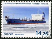 RUSSIA - 2013: shows ice-class tanker Timofey Guzhenko, series Marine fleet of Russia — Stock Photo