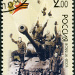 RUSSIA -  2005: shows Victory May 9, 1945, Berlin (triumphant soldiers on a tank), 60th anniversary of Victory in the Great Patriotic War of 1941-1945 — Stock Photo