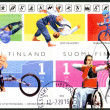 FINLAND - 2012:  shows Finnish Champions in disabled sports, wheelchair racer Leo-Pekka Tähti and para-archer Sanna-Maria Sinisalo, series Summer Paralympic Games — Stock Photo