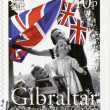 Stock Photo: GIBRALTAR - 2005 : shows 60th Anniversary of Victory in Europe Day