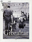 GIBRALTAR - 2005 : shows 60th Anniversary of Victory in Europe Day — Stock Photo