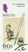 MALTA - 2005: shows the Ugly Duckling, Hans Christian Andersen (1805-1875), a writer — Stock Photo