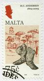 MALTA - 2005: shows Hans Christian Andersen (1805-1875), a writer — Stock Photo