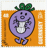 GUERNSEY - 2008: shows little miss naughty, illustration Mr Men & Little Miss — Stock fotografie
