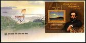 Rusya - 2010 yaklaşık: Rusya'da basılmış damga doğum Isaak Göktepe (1860-1900), ressam, 150 yıldönümünde adanmış — Stok fotoğraf