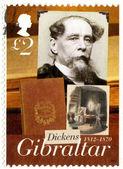 Gibraltar - 2005: muestra dickens charles (1812-1870), un cuento de dos ciudades, bicentenario de charles dickens — Foto de Stock