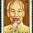 VIETNAM - 1980: shows Ho Chi Minh (1890-1969) — Stock Photo