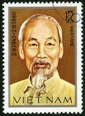VIETNAM - 1980: shows Ho Chi Minh (1890-1969) — Foto de Stock