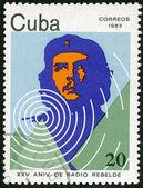 CUBA - 1983: shows portrait of Ernesto Guevara de la Serna (Che Guevara), 25th Anniversary of Radio Rebelde — Stock Photo